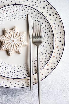Christmas dinner table