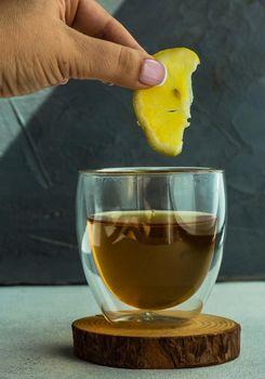 Healthy tea beverage concept