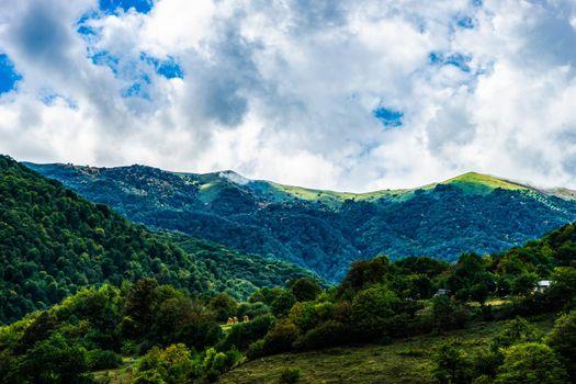 Caucasus mountain landscape in Georgia