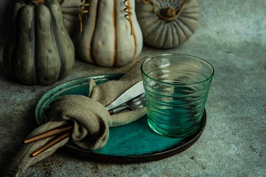 Autumnal table setting
