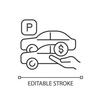 Free parking spots linear icon