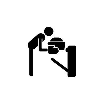 Bake black glyph icon