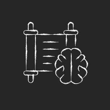 Philosophy chalk white icon on dark background