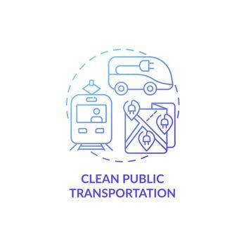 Clean public transportation concept icon