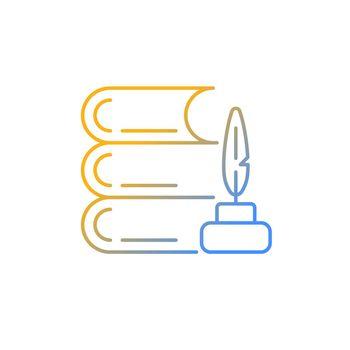 Literature gradient linear vector icon