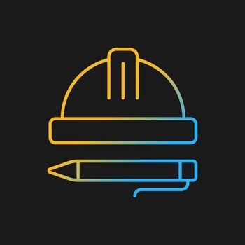 Inspection gradient vector icon for dark theme