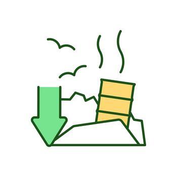 Garbage disposal RGB color icon
