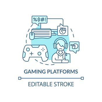 Gaming platforms concept icon