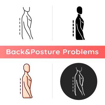 Flatback syndrome icon