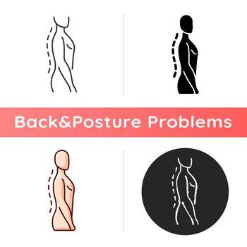 Standing posture correction icon