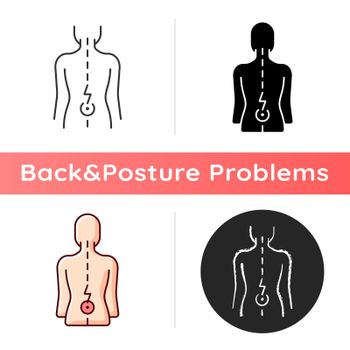 Lower back pain icon