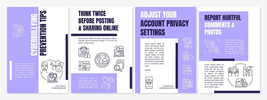 Cyberbullying prevention tips brochure template
