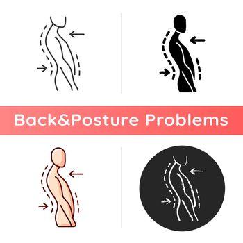 Swayback posture icon