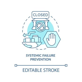 Systemic collapse prevention concept icon