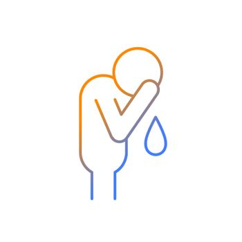 Cry gradient linear vector icon