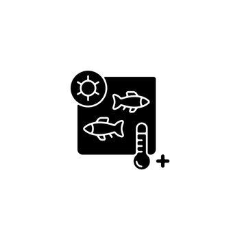 Heat treatment black glyph icon