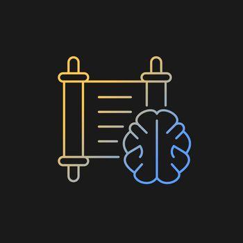 Philosophy gradient vector icon for dark theme