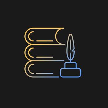 Literature gradient vector icon for dark theme