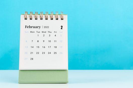 February 2022 desk calendar
