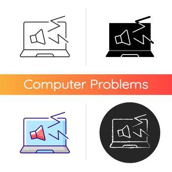 Computer makes strange noises icon