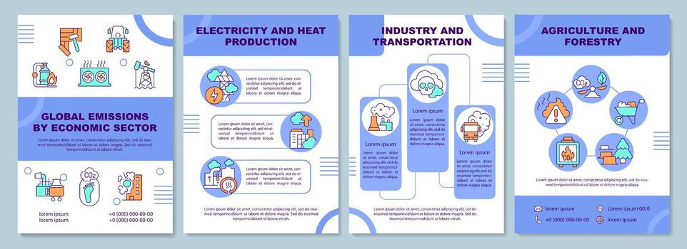 Global emissions by economic sector brochure template