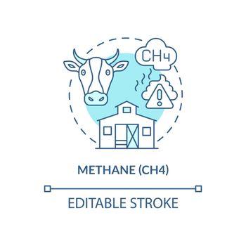 Methane concept icon