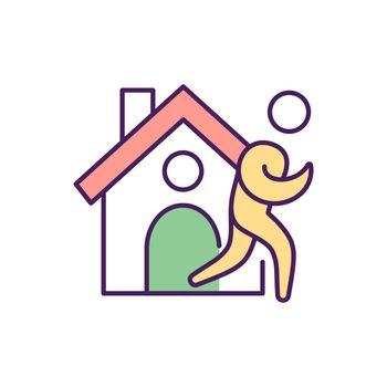 Rehabilitation facility RGB color icon