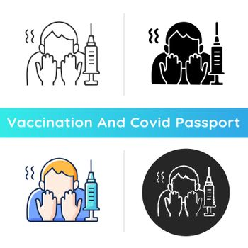 Fear of vaccination icon