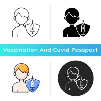 Vaccination of teens icon