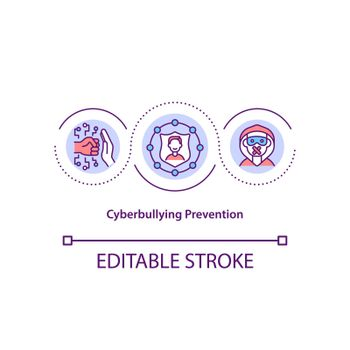 Cyberbullying prevention concept icon