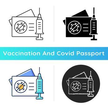 Vaccination card icon
