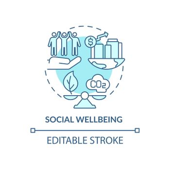 Social wellbeing concept icon