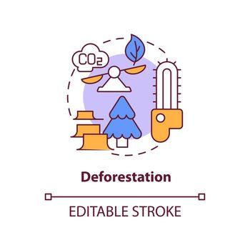 Deforestation concept icon