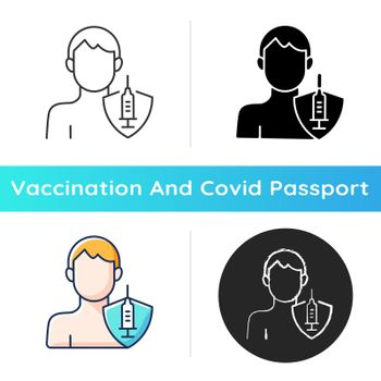 Vaccination of adults icon