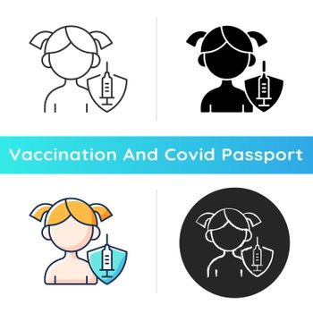 Vaccination of kids icon