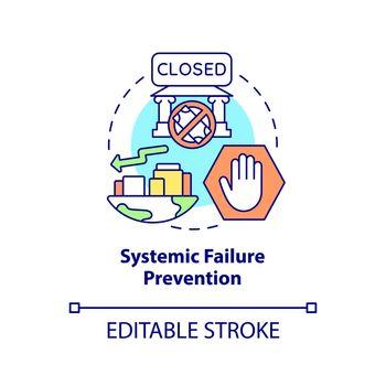 Systemic failure prevention concept icon