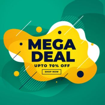 mega deal sale discount banner design
