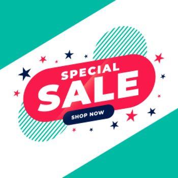 special sale promotional flat banner design