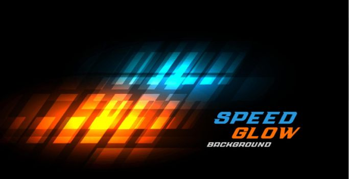 abstract sport dynamic glowing speed background