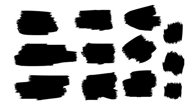 black grunge paint brush stroke template