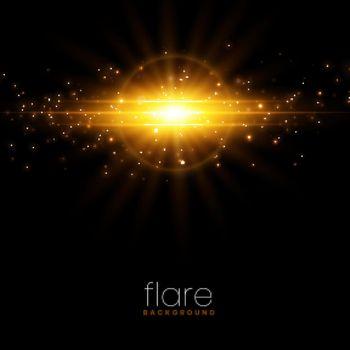 glowing sparkle burst lens flare effect