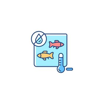 Freeze drying fish RGB color icon