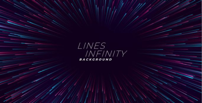 infinity light trail burst background