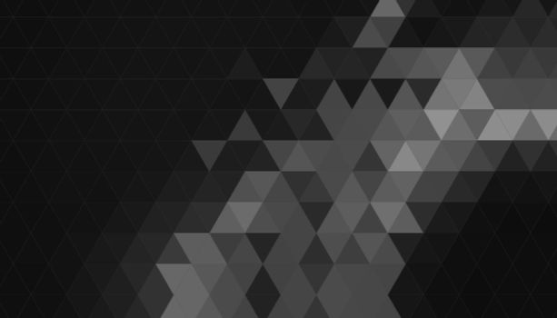 black background with triangle geometric shapes