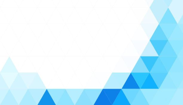 abstract blue triangles shape background
