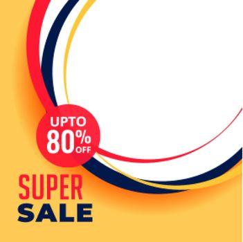 super sale discount background design