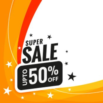 super sale discount banner design