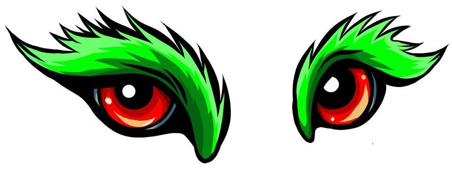 beast eyes logo icon vector illustration design