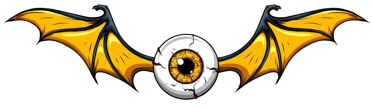 Creepy eye ball , vector illustration design art