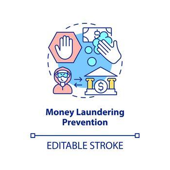 Money laundering prevention concept icon
